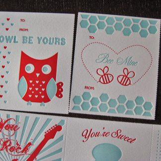 Retro Valentine's Day Card Set - Close Up