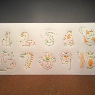 123 Letterpress Baby Poster