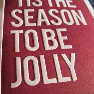 Jolly Letterpress Holiday Card