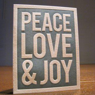 Peace Letterpress Holiday Card
