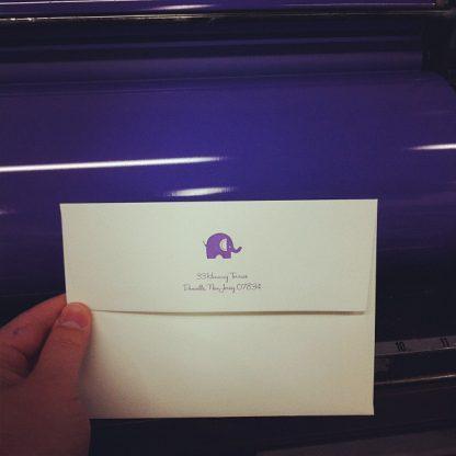 Letterpress printed envelopes