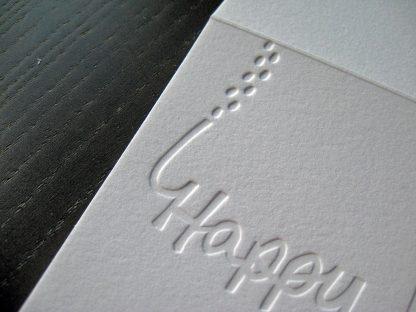 Blind printed snowy feet closeup