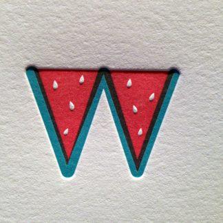 Letterpress Watermelon