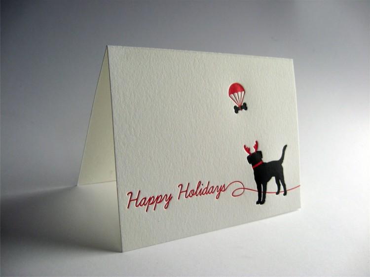 Black Lab Holiday Card