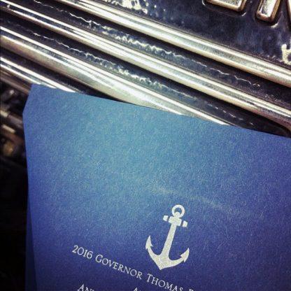 Anchor Wedding Suite - Silver Ink on Envelopes