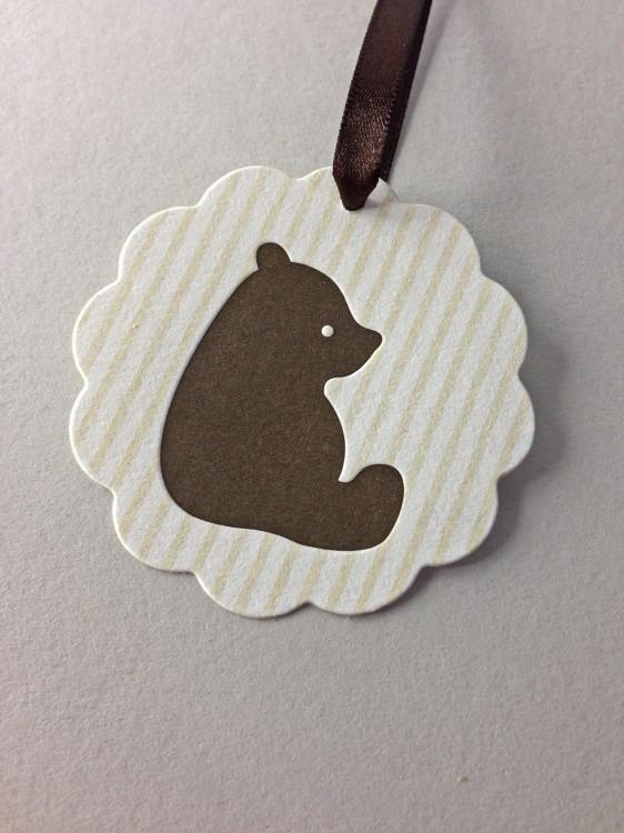 Bear Letterpress Hang Tags