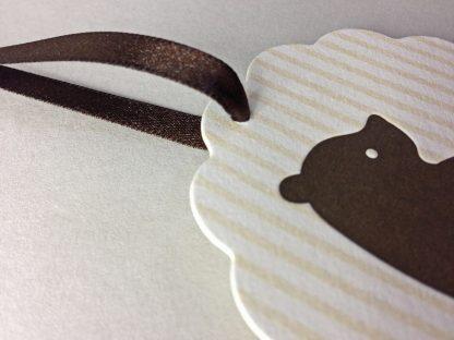 Brown ribbon close up