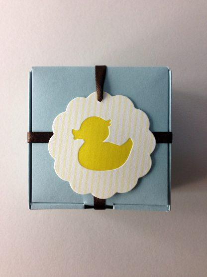 Duck Letterpress Hang Tag