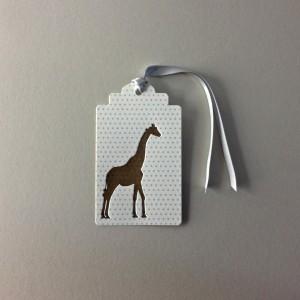 Giraffe Baby Hang Tag