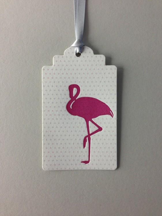 Flamingo Baby Hang Tag