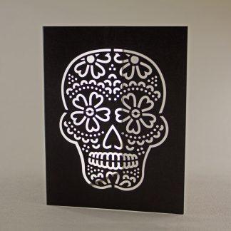 Dia De Los Muertos Laser Cut Greeting Card