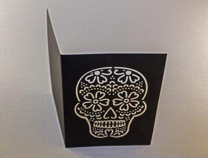 Dia De Los Muertos Laser Cut Greeting Card - Unfolded