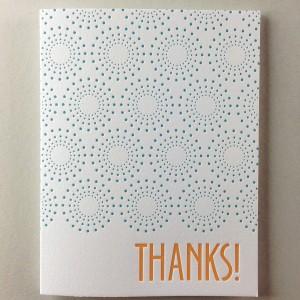 Sunburst Letterpress Thank You Card