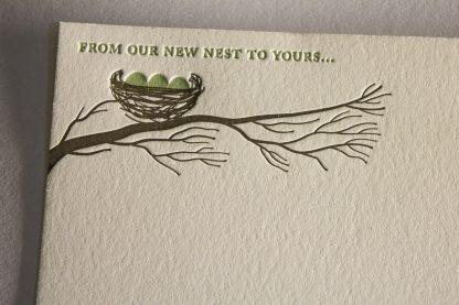 Nest Letterpress Thank You Card - Closeup