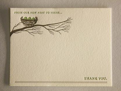 Nest Letterpress Thank You Card