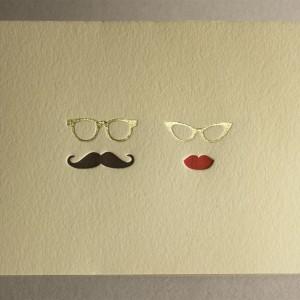 Mr. + Mrs. Letterpress Thank You Card