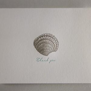 Seashell Letterpress Thank You Card