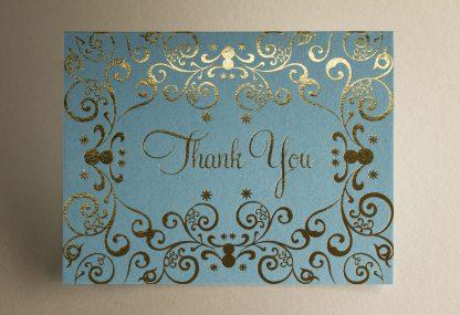 Mehndi Gold Foil Thank You Card