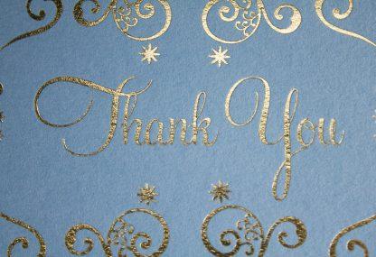 Mehndi Gold Foil Thank You Card - Closeup