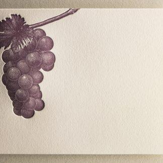 Grape Vine Letterpress Thank You Card