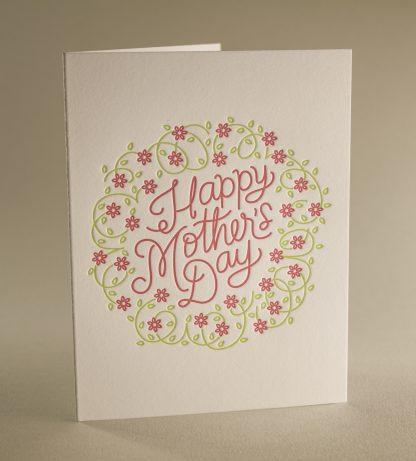 Mom's Wreath Greeting Card - Folded Card
