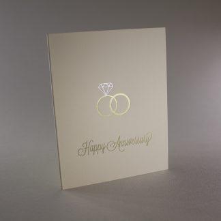 Wedding Bands Foil Anniversary Card