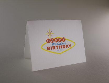 Vegas Birthday Letterpress Greeting Card