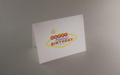 Vegas Birthday Letterpress Greeting Card - Folded Card