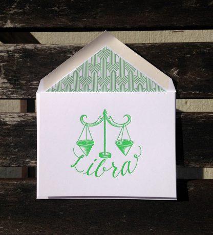 Libra Astrology Letterpress Greeting Card