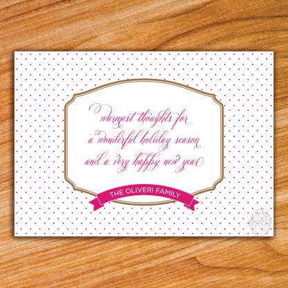H14 - Polka Dot - Holiday Photo Card - Dolce Press