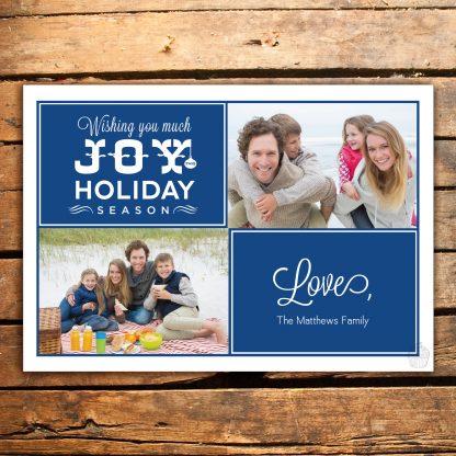 H7 - Holiday Joy - The Matthews - Holiday Photo Card - Dolce Press
