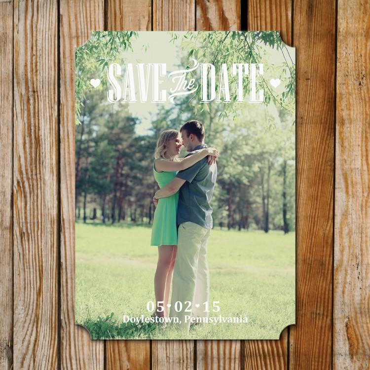 Save the Date - Photocard - SD5 - Diecut