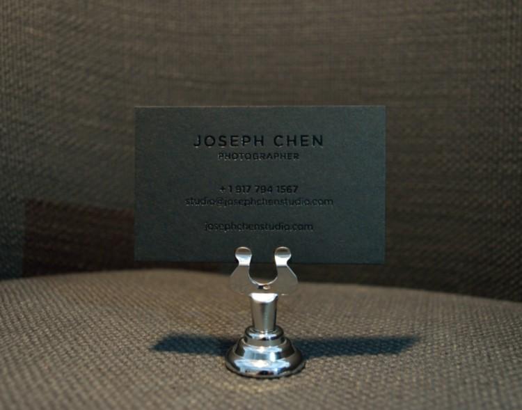 Joseph Chen - 1 color foil business card