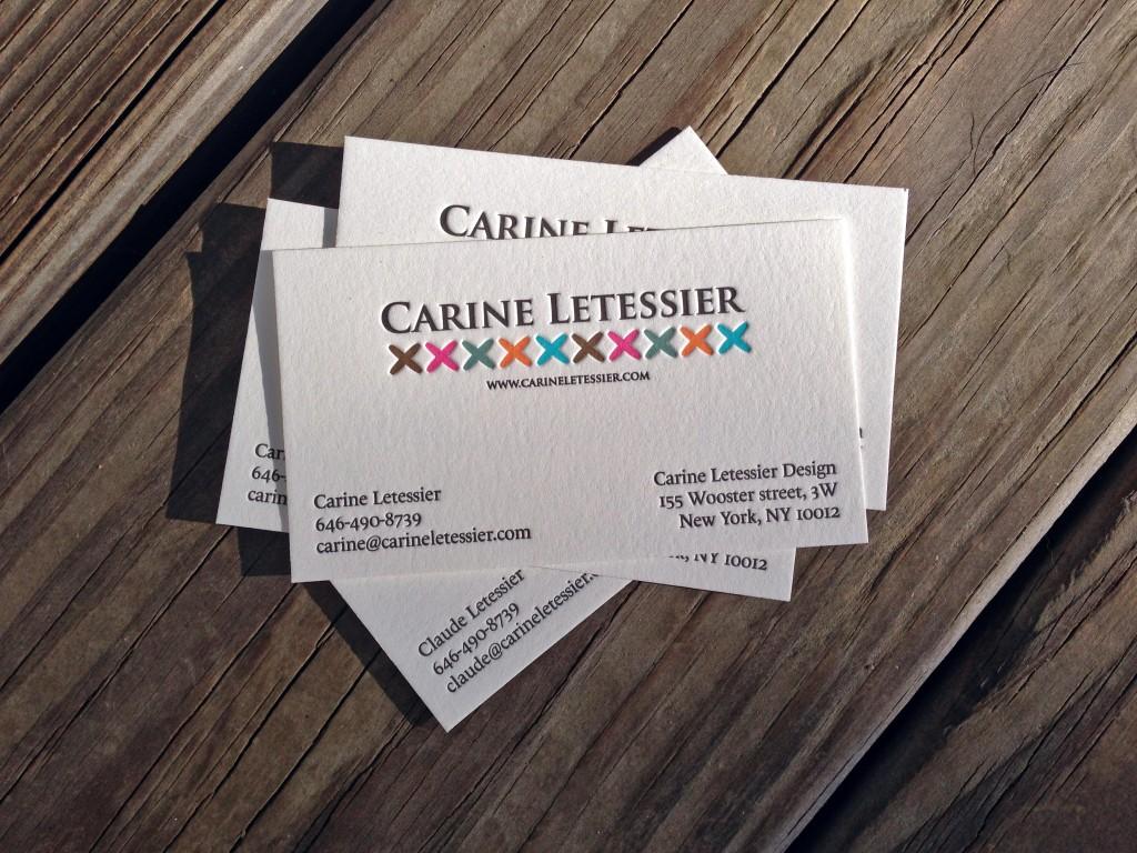 Six Color Letterpress Cards