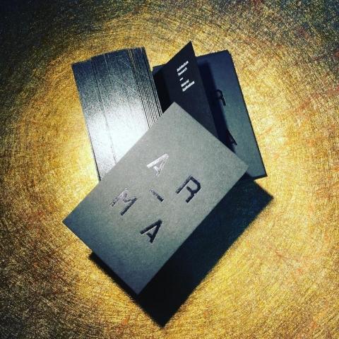 Black Foil Business Cards