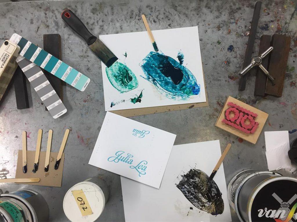 Ink mixing + matching