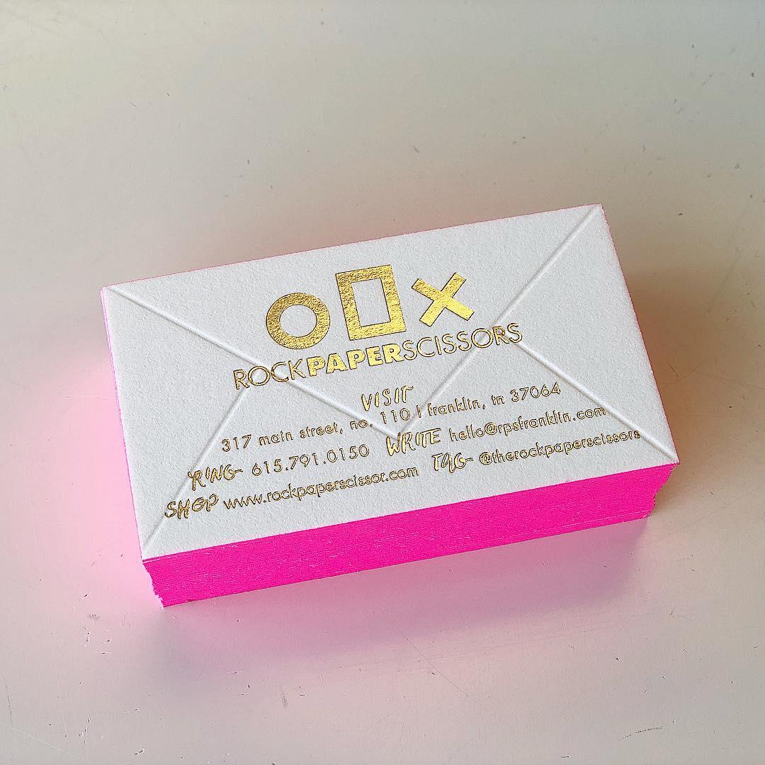 Hot Pink + Gold Foil Business Cards