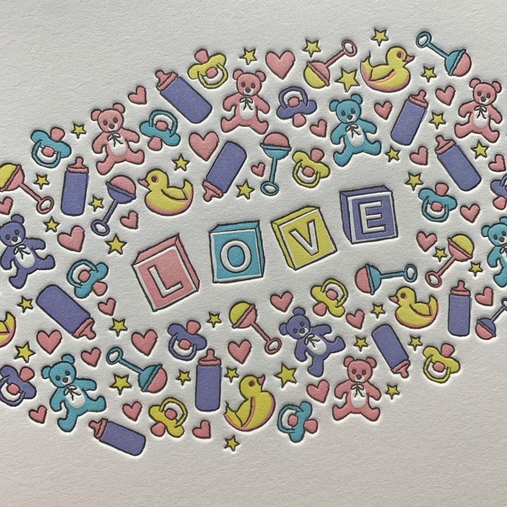 Five Color Letterpress Print